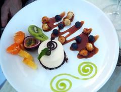 Dessert at the Mission Vineyard, Napier (mikescottnz) Tags: food twittering autumn2016 gmofreehawkesbaynz dessertsweetcusine kiwifruitpassionfruit