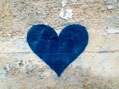 Blue Heart (falkmo) Tags: street blue urban paris art love graffiti heart blau marais herz liebe