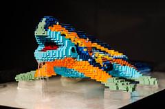 Lego o Gaud? (Una Cereza Perdida) Tags: barcelona lego gaudi lagarto parkguell colourfull arenasdebarcelona theartofthebrick lagartodegaudi