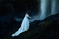 From the Abyss (Lichon photography) Tags: blue wedding cold vintage dark lost photography idea waterfall moody sad dress okanagan surrealism dream surreal dreaming adventure fairy fantasy forever kelowna concept melancholy conceptual majestic tale fariy abyss moddy darkmood lichon lichonphotography