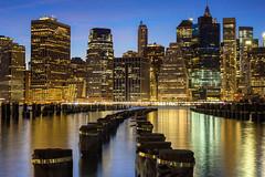 Downtown (gautam023) Tags: park bridge newyork water skyline brooklyn pier downtown cityscape manhattan gautam waterscape pardake
