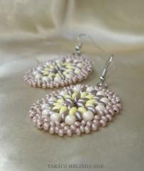 vanlis keksz gyngy flbeval (17)b (melindatakacs1) Tags: handmade jewelry bead earrings beaded drab ecru lightyellow roundish