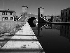 Comacchio_14_1240 (Dubliner_900) Tags: bw monochrome reflections olympus riflessi channel biancoenero canale emiliaromagna comacchio micro43 omdem5markii mzuikodigitaled1240mm128pro