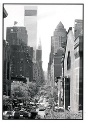 View of Lexington Avenue (Hunter College Archives) Tags: downtown traffic yearbook 1999 hunter armory lexingtonave huntercollege wistarion thewistarion