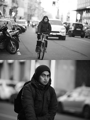 [La Mia Citt][Pedala] (Urca) Tags: portrait blackandwhite bw bike bicycle italia milano bn ciclista biancoenero bicicletta 2016 pedalare dittico ritrattostradale 85570 nikondigitalemir
