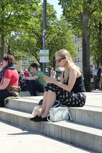 People in Hamburg, Germany