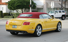 Bentley Continental GTC V8 (SPV Automotive) Tags: sports car yellow continental convertible exotic v8 bentley gtc
