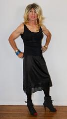 Cortney - Blonde in Black Top, Black skirt and Black Boots (Cortney10100) Tags: highheels femme tgirl transgender tranny blonde transvestite heels cortney crossdresser crossdress tg stilettos transsexual trannie tgurl