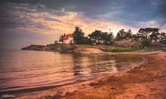 The House (salas-3) Tags: beautiful summer nikon house nature stones trees water sea hang suomi finland hanko landscape seascape
