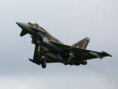 Typhoon (Bernie Condon) Tags: plane fighter aircraft military jet eurofighter bae bomber typhoon raf warplane royalairforce rafconingsby swingrole