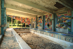 Swimming pool (I g o r ь) Tags: urban abandoned rust decay mosaic murals forgotten urbanexploration decayed sovietunion lostplaces sonya7 ilce7