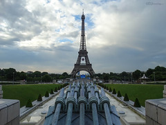 Eiffel Tower and UEFA football
