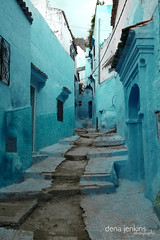 Chefchaouen, Morocco (denajenkins1) Tags: blue mountains street lane road chefchaouen morocco moroccan africa travel tourism vacation