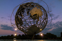 Darkness Falls Over Flushing (Gary Burke.) Tags: unisphere earth world globe icon newyorkworldsfair landmark worldsfair nyc queens ny flushingmeadowscoronapark flushing park pavilion newyorkcity newyork sunset dusk night evening klingon65 gothamist dslr garyburke canon eos 70d canoneos70d ilovenewyork travel nyctravel citylife cityliving iloveny city outdoor ilovenyc newyorklife nycdetails queenscounty tourism touristattraction nycpark fb architecture iheartnewyork urban urbanphotography summer