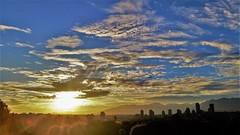 Sundown 2 (SqueakyMarmot) Tags: vancouver suburb burnaby sunset dusk sky clouds colourful blue
