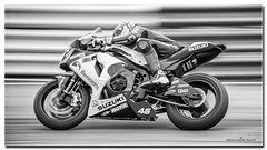Tommy Bridewell Bennetts Suzuki 1000 (jdl1963) Tags: thruxton superbikes super bikes 2016 hampshire motor sport motorsport racing bike rider portrait celebrity star black white monochrome british championship motorbike motorcycle photo border frame frames bw tommy bridewell bennetts suzuki 1000