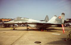 5304 (Al Henderson) Tags: force aviation military air airshow fete 1998 raf gurevich mikoyan mig29 mildenhall slovakian 5304