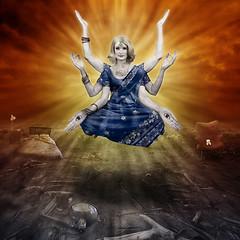 The healing (carrieduay) Tags: above rising dawn mess ruin floating relationship future restoration glowing emotional spiritual healing devastation newbeginning indiangoddess hindugoddess