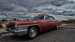 Cadillac III (candi...) Tags: car rojo cadillac coche cielo nubes cocheamericano sonya77