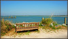 Shall We Sit and Relax a While? (Jerry Jaynes) Tags: summer vacation beach water bench nc dock sand northcarolina thepoint topsailinlet nikkor1685vr bankschannel topsailisland2013