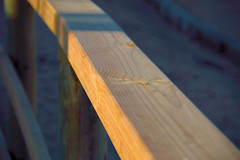 Wood railing at sunset (jrtorcal) Tags: wood sunset railing