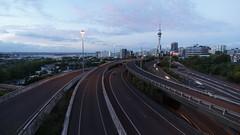 City life (hakannedjat) Tags: road street city newzealand cars night zeiss timelapse traffic motorway anniversary sony auckland nz skytower nightlife 12mm skycity 175th touit a5100 ilce5100
