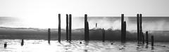Pt.Willunga Crash (rhiannonjones1992) Tags: sunset beach water ruins waves jetty adelaide willing portwilling