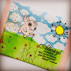 Mailart for Kris from Australia (Stampinkie) Tags: mailart rubberstamping outgoing happymail stampotique