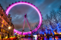 The London Eye at Night (Pete Halewood) Tags: london londonhdr petehalewood halewoodphoto trlondon2015