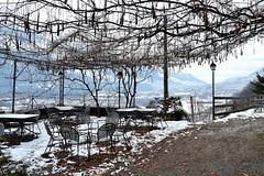 Terrazza (fede.fontana6) Tags: winter italy panorama mountain snow italia terrace natura neve vista inverno sedie ristorante montagna valtellina tavoli sondrio terrazza tavolini nikond3100