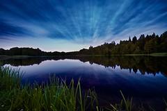 Evening Reflections (Christoph Pfeilstücker) Tags: lake reflection night europe lithuania xris74 pixpassion