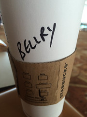 So cute, the spelling of my name on Starbucks Coffee at the Delhi Airport