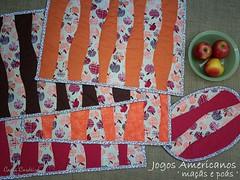 Kit placemats (Carla Cordeiro) Tags: placemat patchwork cozinha ma curva jogoamericano acolchoado cantomitrado costuraemcurva