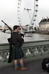 Bagpipe. (Joka.) Tags: park uk greatbritain bridge london nikon unitedkingdom londoneye bigben payphone londontower joka rollofhonor       d3100 nikond3100