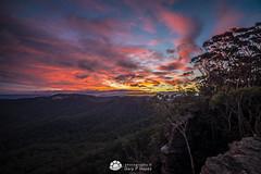 Mt Vic Sunset II (Gary Hayes) Tags: autumn sunset mist australia bluemountains oceania mountvictoria