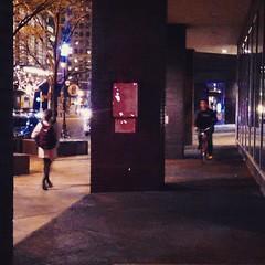 106   365: Back & Forth (phillytrax) Tags: city urban usa philadelphia night america square unitedstates pennsylvania centercity corridor pa squareformat metropolis bicyclist philly crema metropolitan 215 breezeway cityofbrotherlylove passagway iphoneography instagram instagramapp uploaded:by=instagram 1880jfk