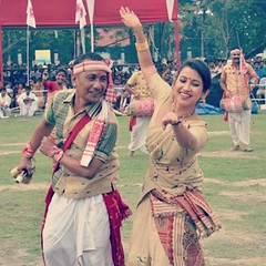 "Actress Barsha Rani at ""Mukoli Bihu"" in Guwahati"