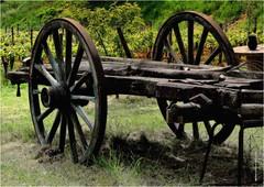 QZ 415 (cadayf) Tags: wood countryside 33 farm cart campagne ferme bois charrette gironde