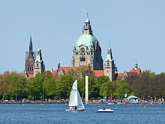 Rathaus Hannover und Maschsee (Magdeburg) Tags: city town hall cityhall hannover townhall rathaus newcityhall rathaushannover