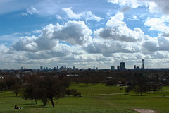 Primrose Hill - Day (iam.josh) Tags: park city london skyline landscape stpauls olympic canarywharf lighttrail