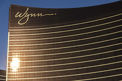 Wynn (Preston Ashton) Tags: vegas windows light usa reflection building sunshine america hotel golden evening us lasvegas nevada casino reflect northamerica wynn gamble prestonashton