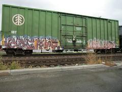 09-01-10 (9) (This Guy...) Tags: road railroad car train graffiti box graf rail rr traincar boxcar graff 2010