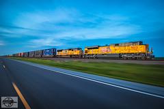Southbound UP Intermodal Train at Bernie, MO (Nanner Hogger) Tags: railroad train locomotive railfan railroader