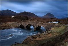 Sligachan Bridge (jeanny mueller) Tags: uk sunset skye river landscape abend scotland unitedkingdom brcke landschaft brigde cullins schottland sligachan flus