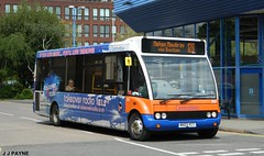 Centrebus (350) Optare Solo - MX03 YCT (J.J.Pay 8581) Tags: uk bus leicester transport midlands 128 mx03yct