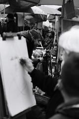 Direct to the Eyes (endriuthomas) Tags: white black paris child montmartre artists artistas nio bianco nero parigi bambino