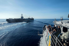 John C. Stennis Strike Group Operating in the South China (#PACOM) Tags: ocean usa pacific mob pacificocean cruiser underway deployment 2016 ussmobilebay cg53 7thfleet uspacificcommand pacom