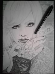 Meto (Giovana Draw/ ) Tags: white black illustration pencil grey kei draw visual jrock graphite desenho grafite