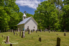 Primitive Baptist Church & Cemetery (John H Bowman) Tags: cemeteries tennessee may parks churches explore nationalparks gravestones cadescove baptistchurches blountcounty 2016 tinroofs nrhp blueskywhiteclouds greatsmokymountainsnp countrychurches tnmountains may2016 canon16354l