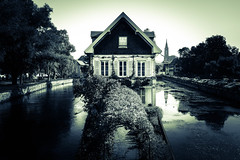 Small house on the water (johnpaulsimpson) Tags: france sony strasbourg rx100